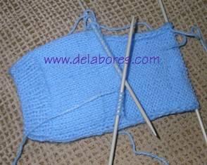 C mo hacer un calcet n tejido de punto calcetines - Como hacer talon de calcetines de lana ...