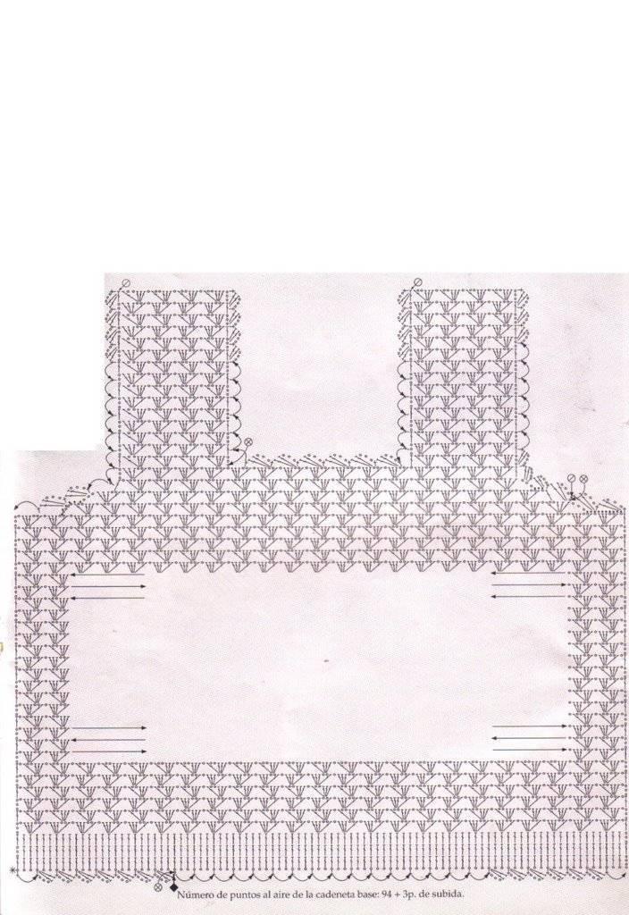 Patrón de camisita tejida a ganchillo