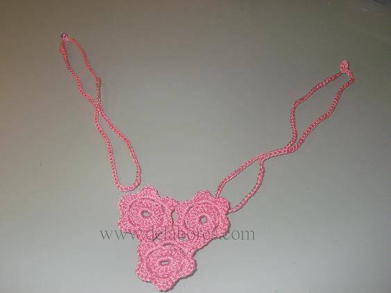 Patrón para tejer un collar a crochet